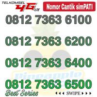 Nomor Cantik Simpati telkomsel 4G LTE seri 7363 xx00