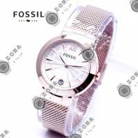 jam tangan wanita cewek FOSSIL round rantai