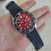 JAM TANGAN SEIKO 5 RED SPECIAL BRIAN MAY LIMITED EDITION SUPER GRADE
