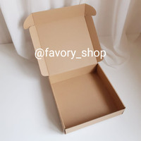 Box Karton Tebal 20 x 20 x 5 Brown / Pizza Box / Box Kue Corrugated