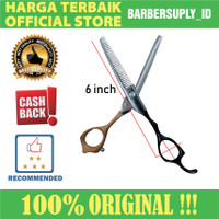 Gunting Penipis Rambut VG Professional Hair Scissors Hitam / Oranye