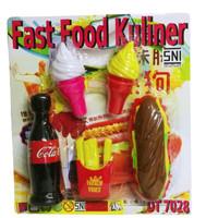 Mainan Hotdog Susun Ice Cream Fast Food Kuliner
