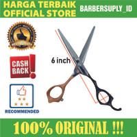 Gunting Potong Rambut VG Professional Hair Scissors Hitam / Oranye