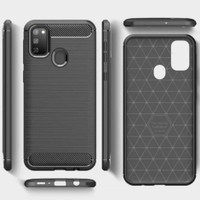 SAMSUNG GALAXY M31 CASE CARBON ARMOR BLACK - SOFTCASE MATERIALS