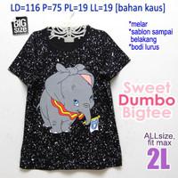 Sweet Dumbo Bigtee XXL Kaos Wanita Big Size Jumbo