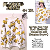 Big Garfield Sweater XXL Atasan Lengan Panjang Ukuran Besar Jumbo