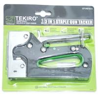 tekiro 3in1 staple gun tacker stapling staples tembak jok kulit karpet
