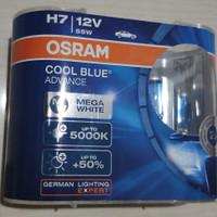 Bohlam Lampu Putih OSRAM H7 Cool Blue Advance 12V 55W 5000K