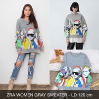 ZRA Women Sweater XXL Atasan Lengan Panjang Wanita Jumbo Big Size