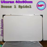 Papan Tulis White Board 40x60cm / BONUS 1 SPIDOL