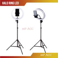 Lampu Halo Ring Light Curve LED Selfie 128 LED 10 20cm Stand