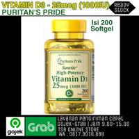 VITAMIN D3 25MCG I000 IU - PURITANS PRIDE ISI 200