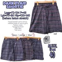 Dark Plaid Shortie size 40 Celana Pendek Wanita Santai Rumah Big Size