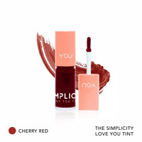 Kosmetik YOU The Simplicity Love You Tint/Lip Tint Original BPOM - CHERRY RED