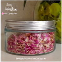 Mason Glass Jar 250ml (Short/Rendah/Pendek)
