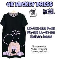 OK Mickey Dress XXL 2L Baju Terusan Wanita Midi Dress Jumbo Rumah