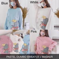 Pastel Dumbo Sweater B XXL Baju Atasan Wanita Lengan Panjang Jumbo Big