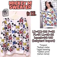 Mickey M Sweater XXL Baju Hangat Wanita Lengan Panjang Jumbo BigSize