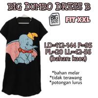 Big Dumbo Dress B XXL Baju Terusan Wanita Ukuran Besar