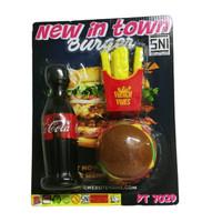 Mainan Anak Burger Susun Kentang goreng