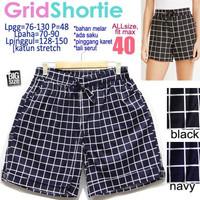 Grid Shortie fit size 40 Celana Pendek Wanita Rumah Ukuran Besar