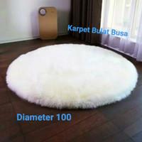 Karpet Bulu Bundar Cantik Diameter 100 CM