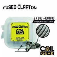 COIL GEAR FUSED CLAPTON Ni80 2 PASANG 26G+40G - KAWAT VAPE VAPOR