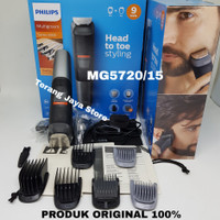 Multigroom Philips MG5720/15 Shaver For Hair & Face 9 in 1 Tool (ORI)