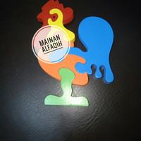 Mainan Edukasi Puzzle Kayu Ayam