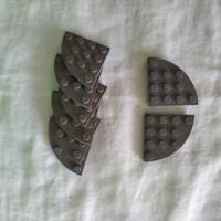 Lego Plate Round Corner 4x4 Dark Bluish Grey Part 30565