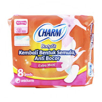Charm Body Fit Extra Maxi isi 8 pads