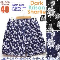 Dark Krisan Shortie fit 40 Celana Pendek Wanita Ukuran Jumbo