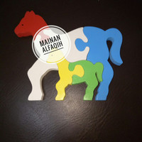 Mainan Edukasi Puzzle Kayu Kuda