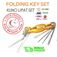 Kunci L lipat set 7 pc Bestguard Tool set Sepeda