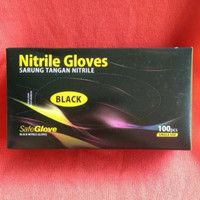 Nitrile Gloves/sarung tangan medis black hitam, per pcs eceran, size S