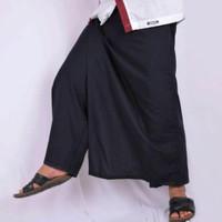 sarung celana dewasa polos full black off halus adem nyaman dipakai
