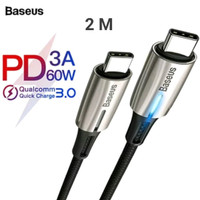Baseus kabel USB type C to type C 3A PD 60W fast charging cable 2 m