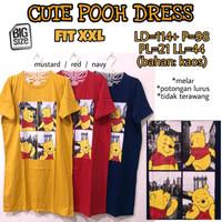 Cutie Pooh Dress XXL baju terusan wanita jumbo bigsize besar