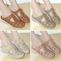 Sepatu Wanita Sandal Sepatu Motif Bordir Sendal Mulan 2170