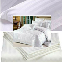 sprei polos embos jaquard queen size 160x200 T30 hotel white putih