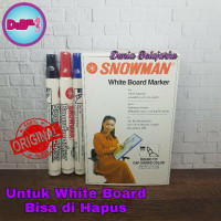 Spidol White Board Snowman BG 12 / Spidol Papan Tulis Snowman - Merah