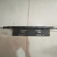 breket plat nomor model tanduk mini untuk mobil universal