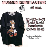 Shopping Minnie Loosetee 3L Kaos Wanita Lucu Jumbo Besar