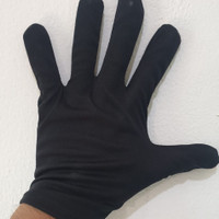 Sarung tangan kain kancing formal hand medical glove black Sepasang