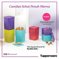 Tupperware Set Toples Warna Warni