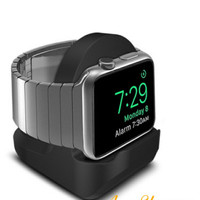 premium quality apple watch Silicone charging stand charging dock
