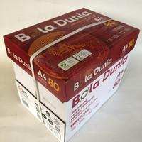 kertas HVS A4 80 gr Bola Dunia [1 box = 5 rim]
