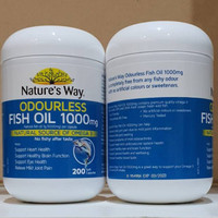Natures way odourless fish oil 1000mg 200soft capsules / omega DHA EPA