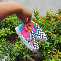 Sepatu anak slip on VANS CHECKER BOARD NEW ARRIVAL