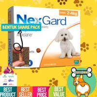 ORIGINAL REPACK Nexgard Obat Kutu Anjing (2-4kg) Kecil Small Dog